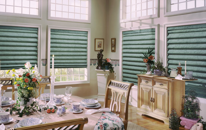 Project Name Dining Room Accents And Roman Blinds